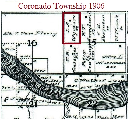 map showing Coronado Township 1906